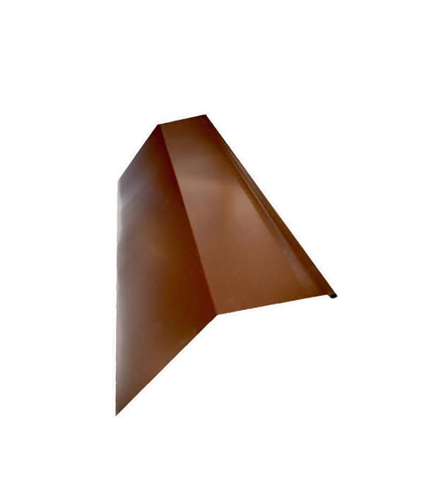Планка карнизная для металлочерепицы 80х100 мм, 2 м коричневая RAL 8017