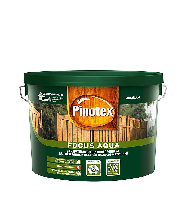 Пинотекс Focus Aqua антисептик орех 9 л  пинотекс ultra антисептик орех 1 л