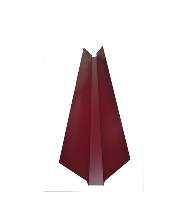 Ендова внешняя  для металлочерепицы 150х150 мм, 2 м красное вино RAL 3005