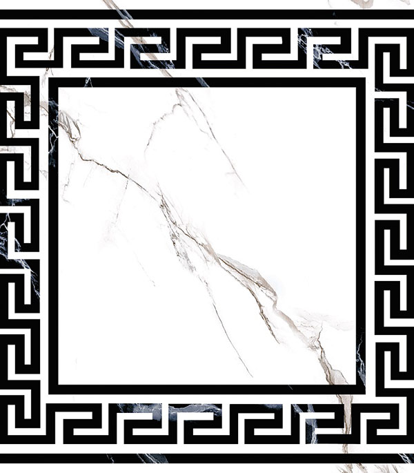 Керамогранит декор 400х400х9 мм Classic Marble/Грасаро