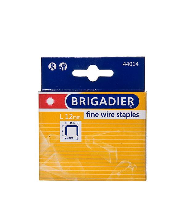 Скобы для степлера Brigadier 12 мм тип 53 (11.3х0.7) П-образные (1000 шт)