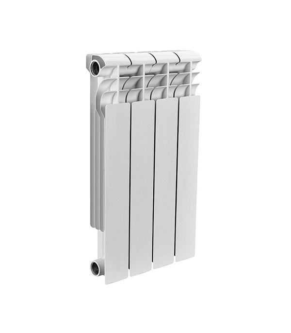 Радиатор биметаллический 1 Rommer profi 500,  4 секции радиатор отопления rommer optima bm 500 биметаллический 8 секций