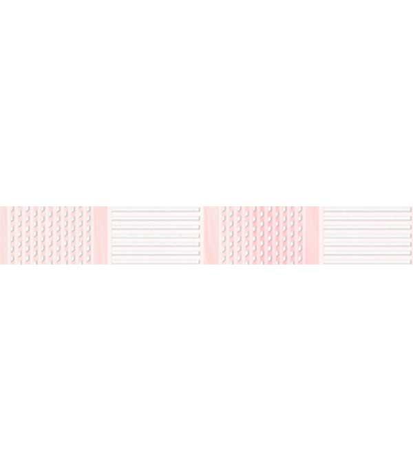 Плитка бордюр 250х35 мм Агата С розовый