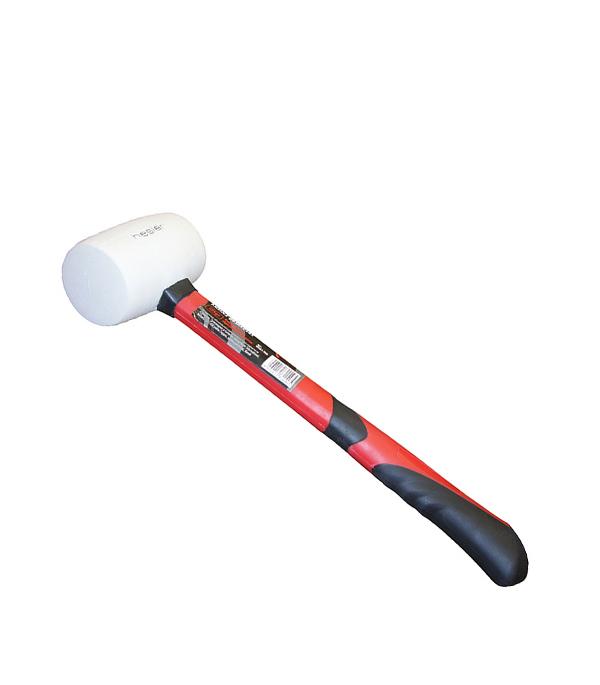 Подробнее о Киянка резиновая белая 450 гр фибергласовая ручка киянка резиновая белая