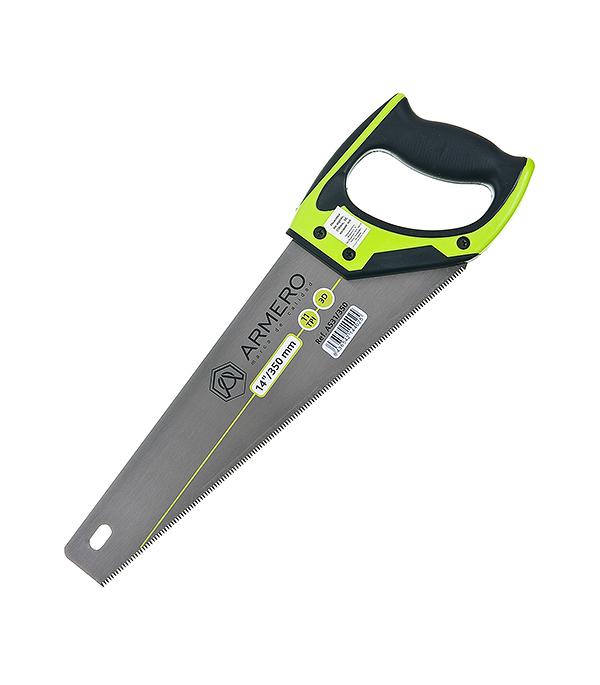 Ножовка по дереву (мелкий зуб) 350 мм Armero Стандарт