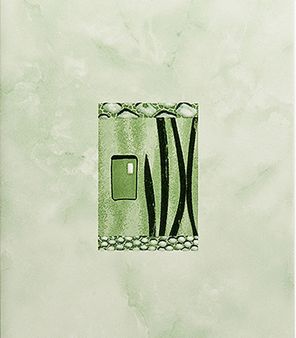 Плитка декор 200х300х7 мм Каррара зеленая
