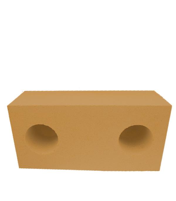 Кирпич СУЛ силикатный утолщенный лицевой ЖЕЛТЫЙ пустотелый  250х120х88 мм, шт.