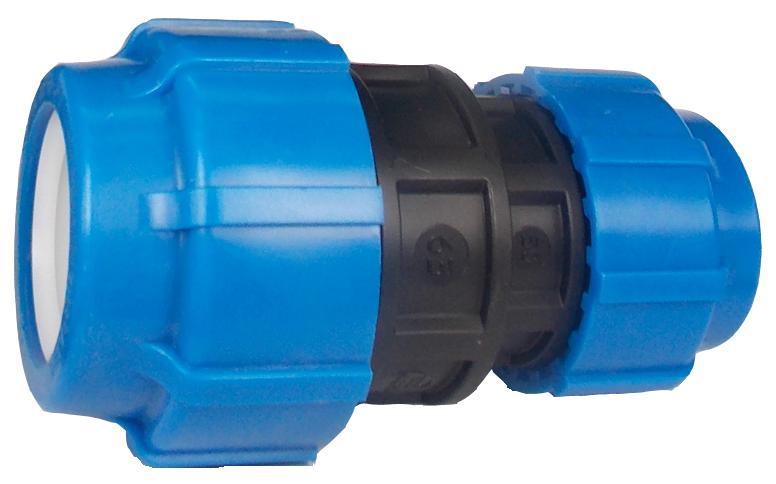 Муфта ПНД компрессионная переходная 63х50 мм