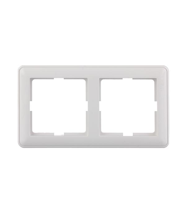 Рамка двухместная Schneider Electric Wessen59 белая