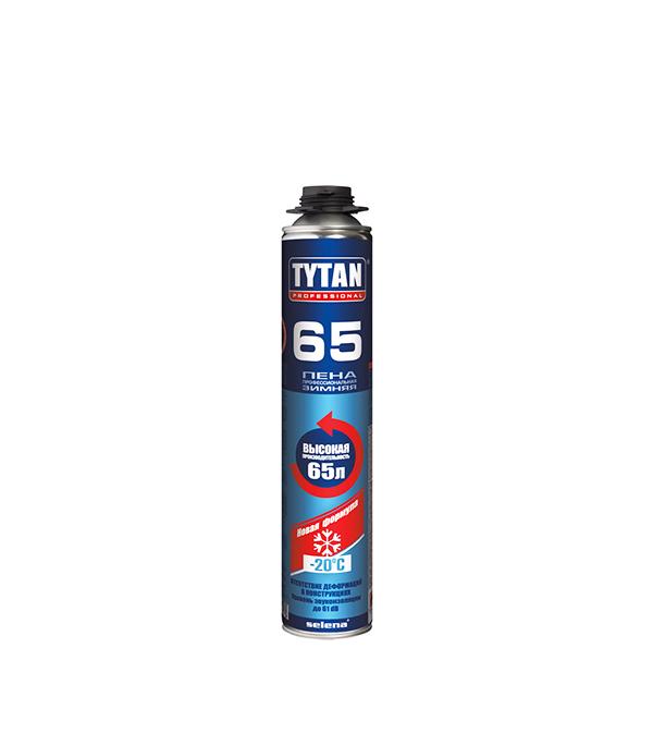 Пена монтажная Tytan 65 O2 профессиональная зимняя 750 мл пена монтажная kapral 30 профессиональная всесезонная 750 мл