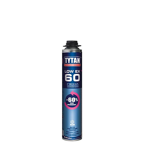 Пена монтажная Tytan O2 Low Expansion 60 профессиональная зимняя 750 мл пена монтажная kapral 30 профессиональная всесезонная 750 мл