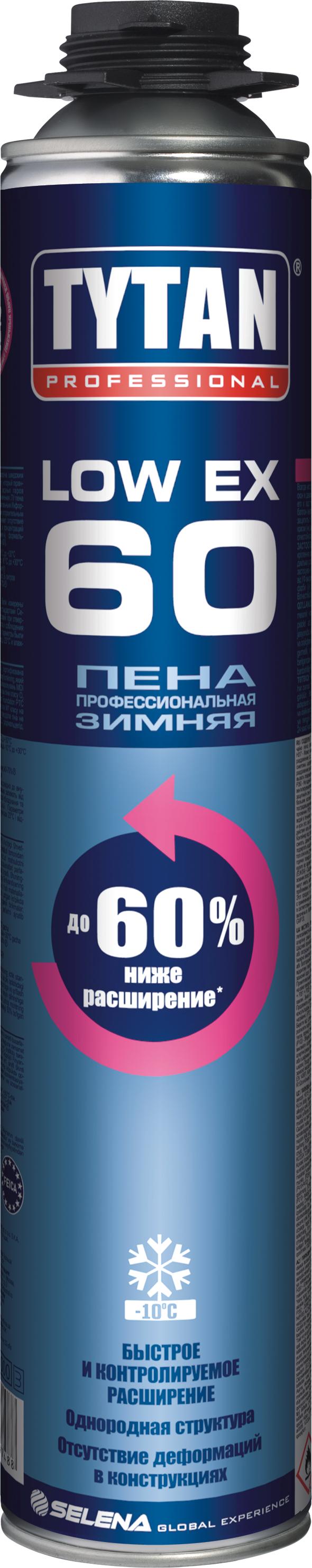 Пена монтажная Tytan O2 Low Expansion 60 профессиональная зимняя 750 мл