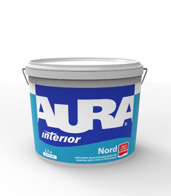 Краска в/д интерьерная Interior Aura Nord основа А 2,7 л