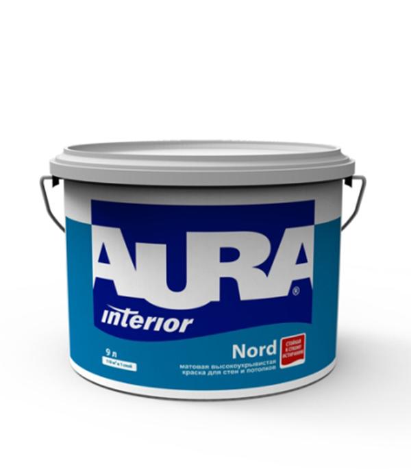 Краска в/д интерьерная Interior Aura Nord основа А 9 л