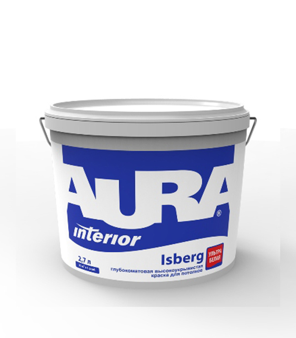 Краска в/д для потолка Interior Aura Isberg 2,7 л