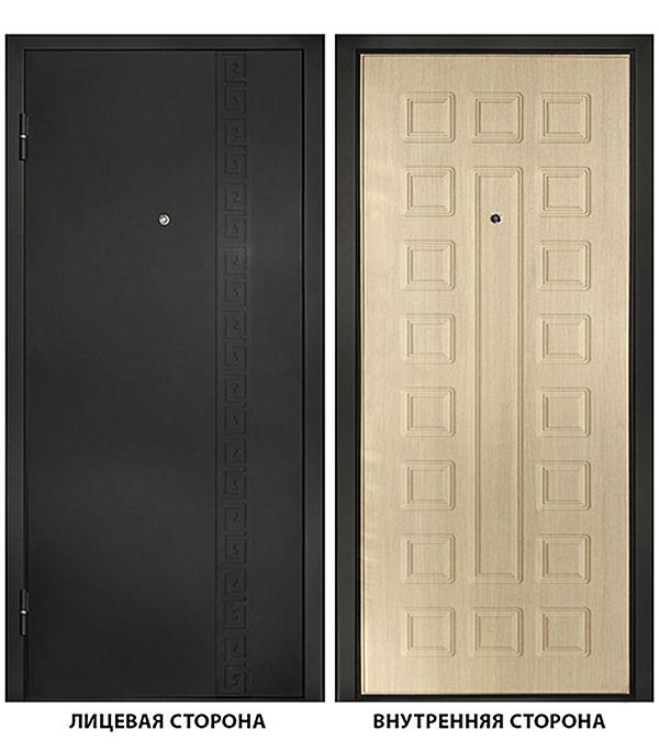 Дверь металлическая ДК Сити 960x2050 мм левая, без ручки и цилиндра