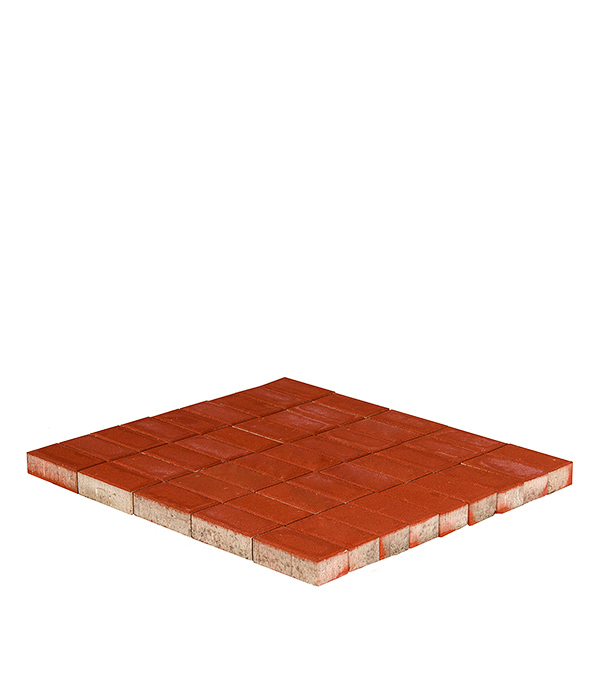 Плитка тротуарная Прямоугольник 200х100х60 мм красная
