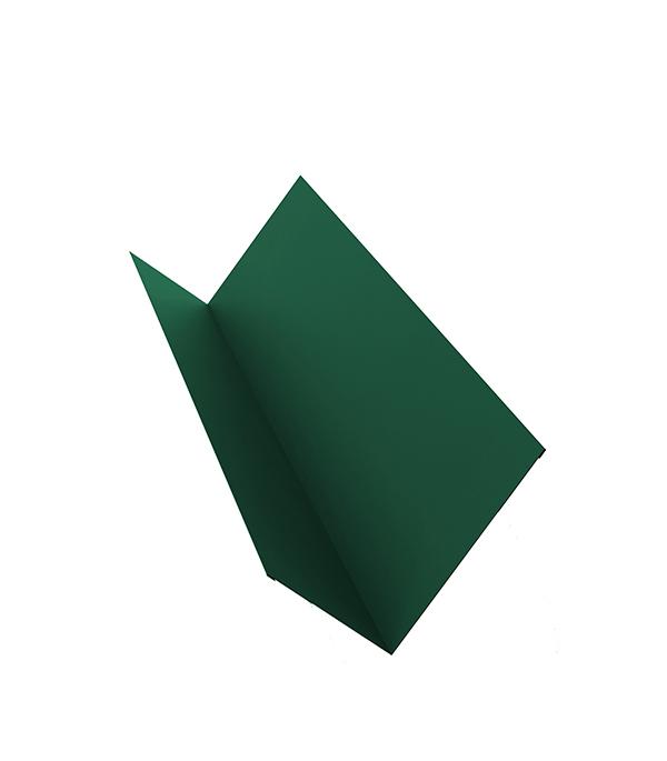 Планка примыкания для металлочерепицы 2 м зеленая RAL 6005  планка примыкания для металлочерепицы 2 м красное вино ral 3005
