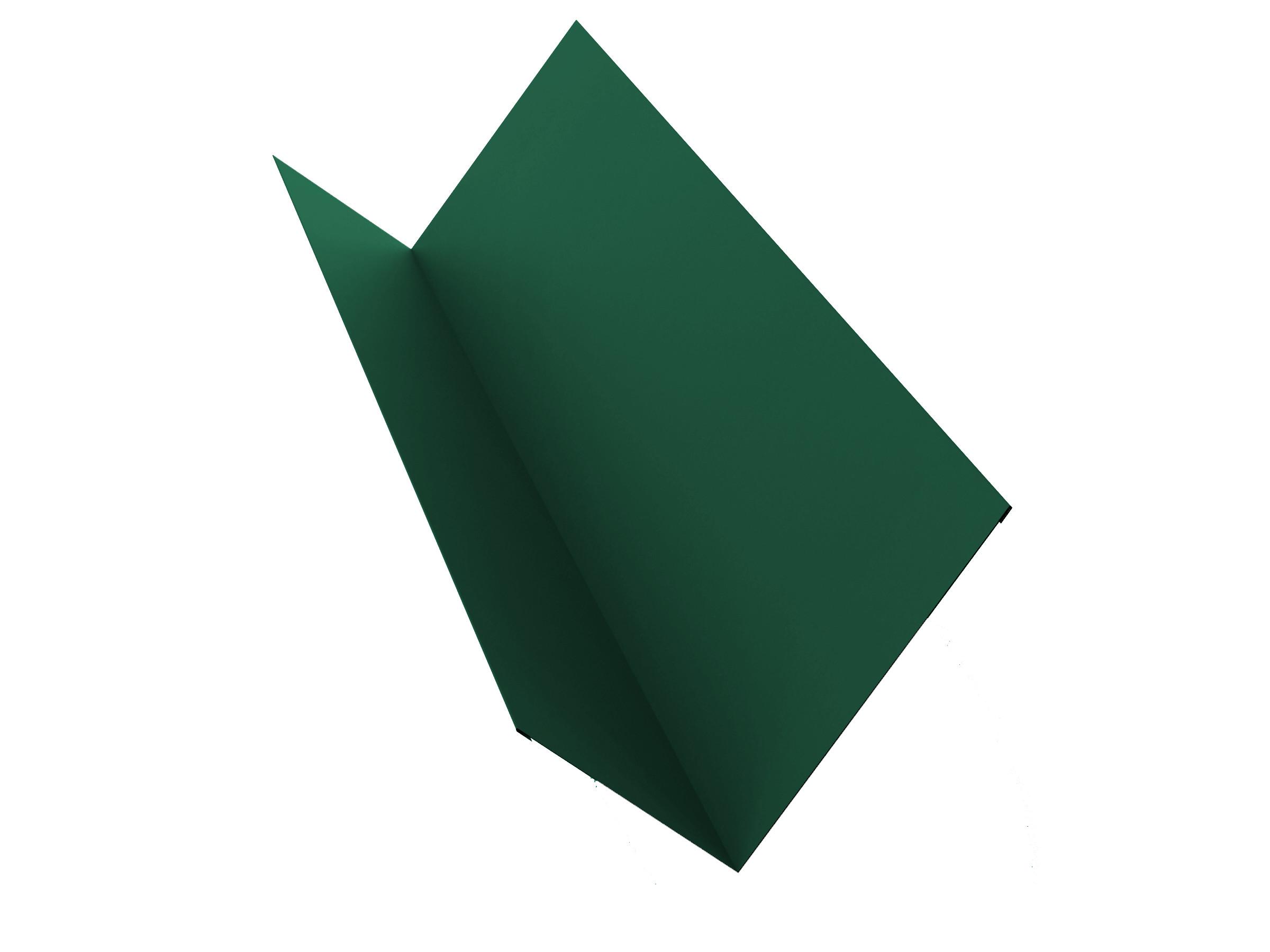 Планка примыкания для металлочерепицы 2 м зеленая RAL 6005