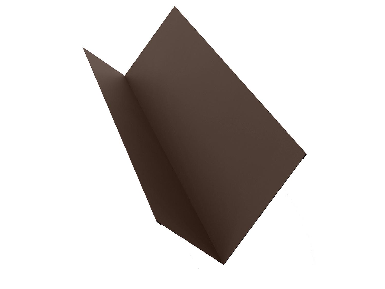 Планка примыкания для металлочерепицы 2 м коричневая RAL 8017