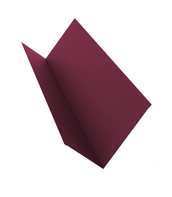 Планка примыкания для металлочерепицы 2 м красное вино RAL 3005 планка примыкания для металлочерепицы 2 м красное вино ral 3005