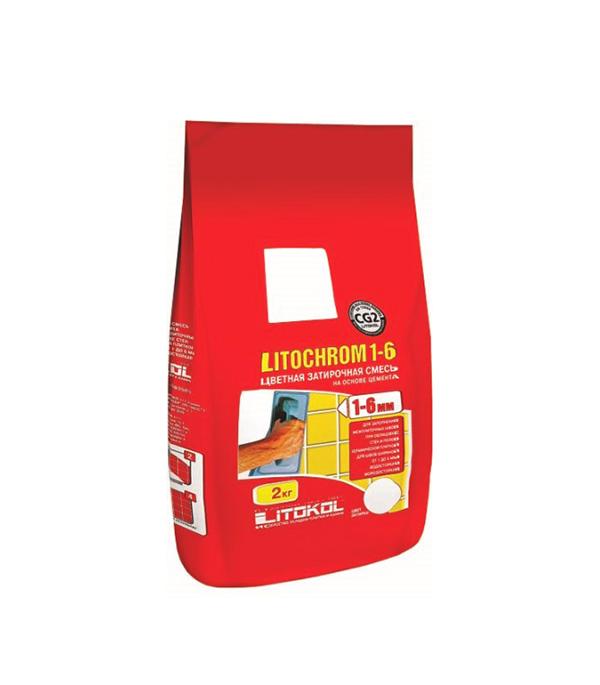 Затирка Литокол Литохром 1-6 C.80 коричневый/карамель 2 кг