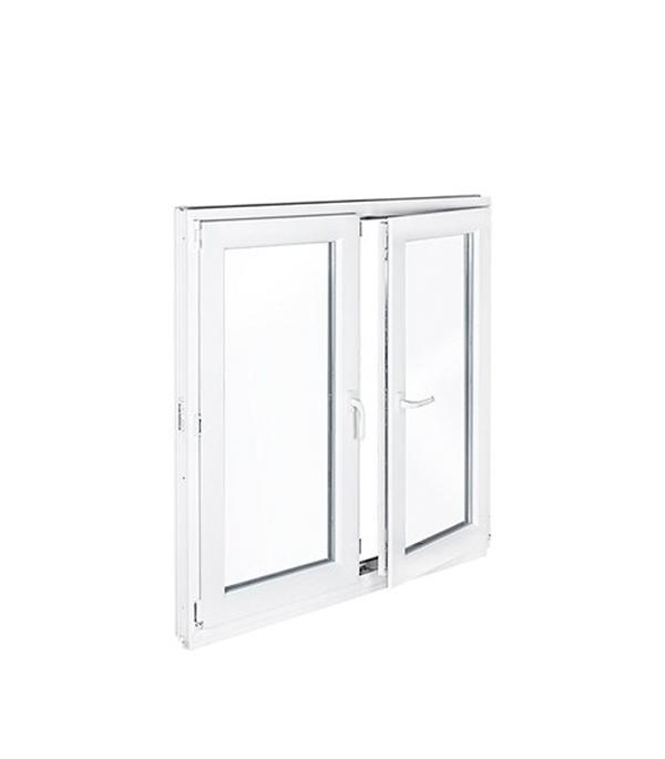 Окно металлопластиковое REHAU 1200х1200 мм белое 2 створки правая поворотно-откидная левая поворот окно металлопластиковое rehau 1440х1160 мм белое 2 створки поворотно откидное правое поворотное