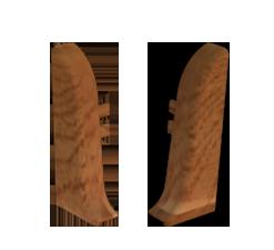 Заглушки торцевые (левая+правая) к плинтусу 68 мм дуб антик Nexus