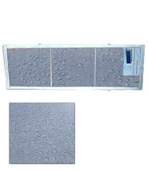 Экран для ванн Оптима пластик синий капли 1700 мм