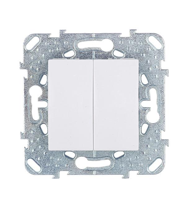 Механизм выключателя двухклавишного с/у Schneider Electric Unica белый