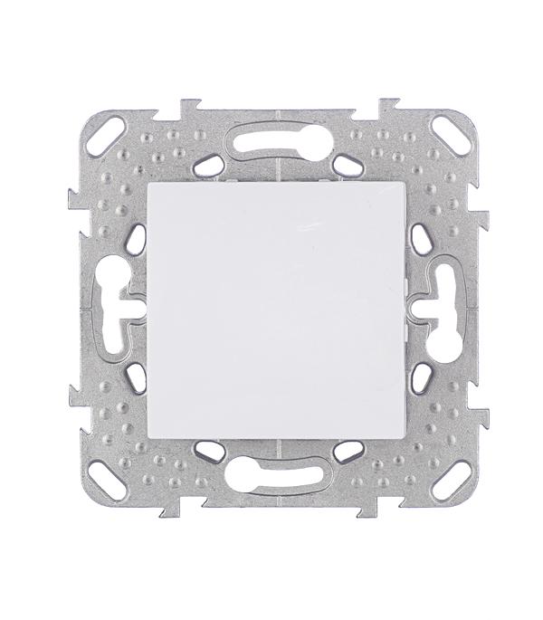 Механизм выключателя одноклавишного Schneider Electric Unica с/у белый механизм переключателя одноклавишного проходного с у schneider electric unica белый