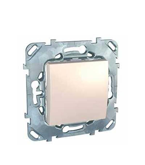 Механизм переключателя одноклавишного Schneider Electric Unica с/у бежевый механизм переключателя одноклавишного проходного с у schneider electric unica белый