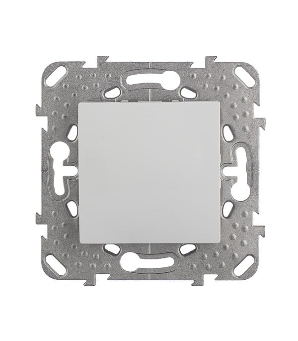 Механизм переключателя одноклавишного Schneider Electric Unica с/у белый выключатель двухклавишный наружный бежевый 10а quteo