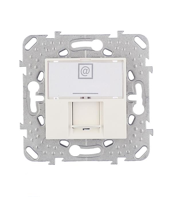 Механизм розетки компьютерной Schneider Electric Unica с/у бежевый механизм розетки телевизионной с у schneider electric unica белый