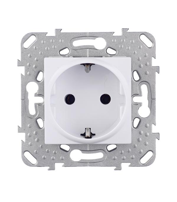 Механизм розетки с/у с заземлением Schneider Electric Unica белый
