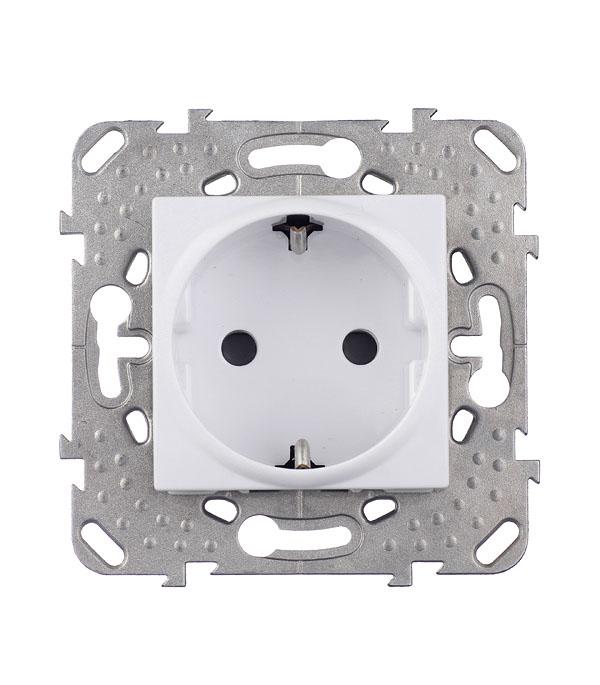 Механизм розетки с/у с заземлением со шторками Schneider Electric Unica белый