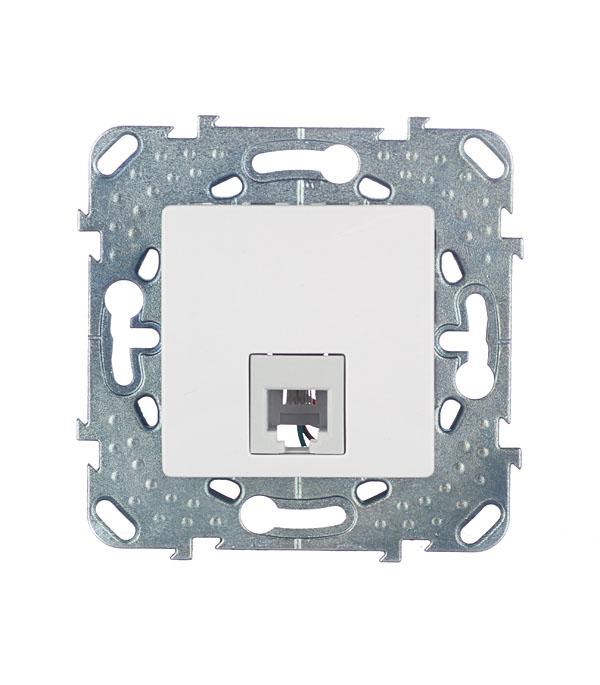 Механизм розетки телефонной с/у Schneider Electric Unica белый