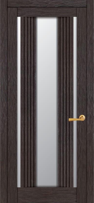 Дверное полотно  экошпон ДПО UBERTURE  Light 2195 Шоколад  800x2000 мм, без притвора со стеклом