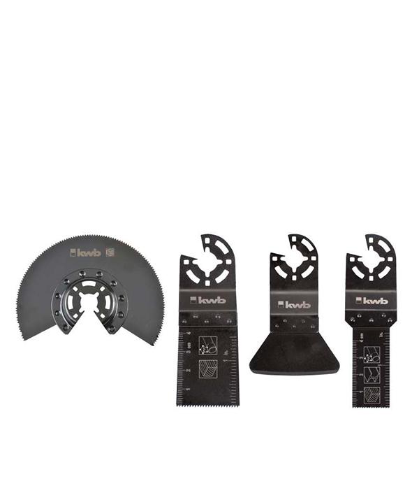 Набор полотен KWB Стандарт для МФУ (4 шт) пильное полотно по дереву kwb стандарт 25 мм для мфу