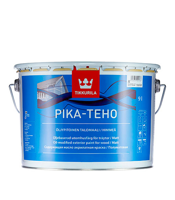 Краска в/д фасадная Pika-Teho основа А матовая Тиккурила 9 л