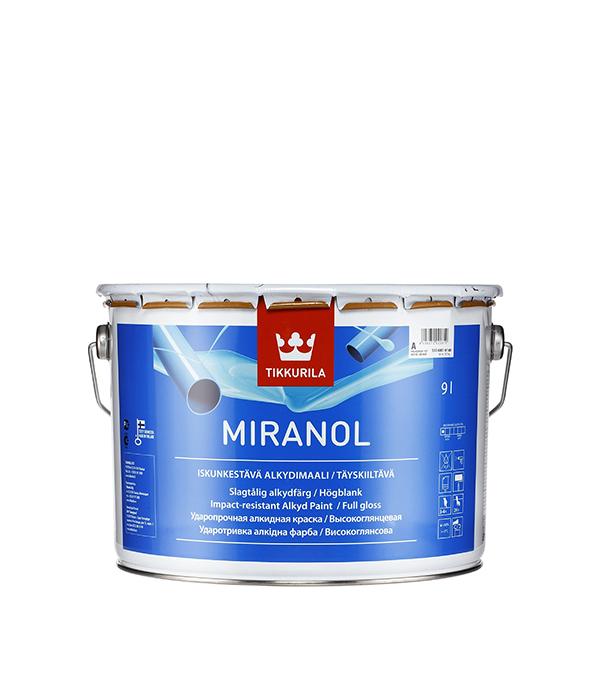 цена на Эмаль алкидная Tikkurila Miranol основа А глянцевая 9 л