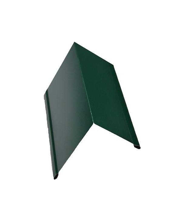 Планка торцевая для металлочерепицы 80х100 мм, 2м  зеленая RAL 6005