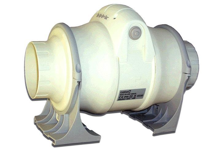 Вентилятор осевой d125 мм Cata Duct In Line 125/320, белый