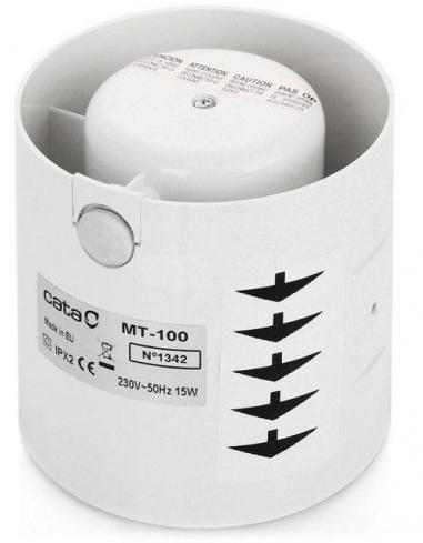Вентилятор осевой d100 мм Cata MT-100, белый