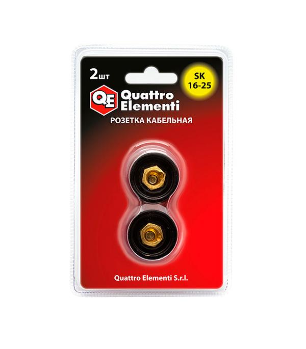 РозеткасварочногоаппаратаQuattroElementiSK16-25 до 200 А(2шт) комплект сварочных проводов 200а 5 4 м quattro elementi