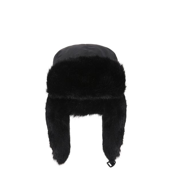 шапка меховая lappi kids 0905 размер 50 см цвет 813 серый с зеленым Шапка-ушанка меховая