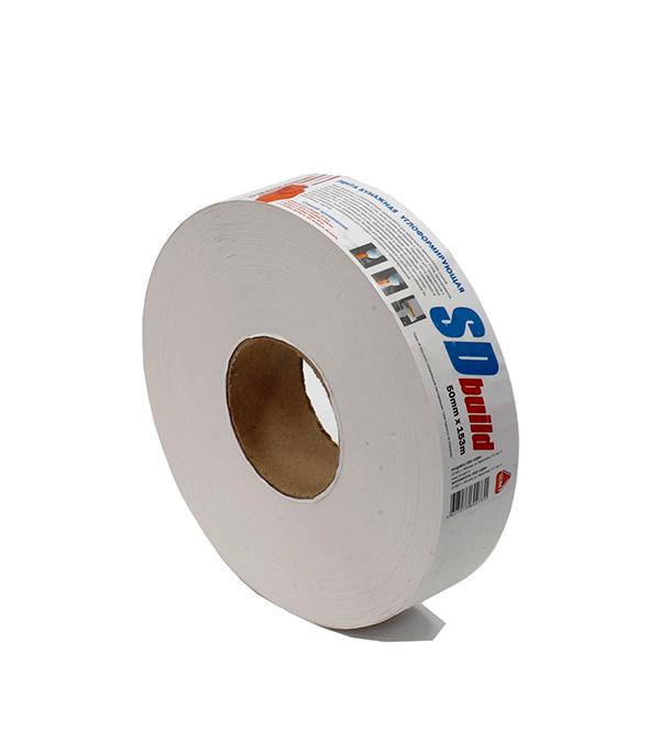 Лента бумажная для швов гипсокартона 153 м шурупы для гипсокартона оптом