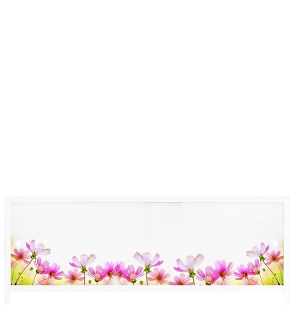 Экран под ванну Ультралегкий АРТ Цветочная фантазия 1500 мм