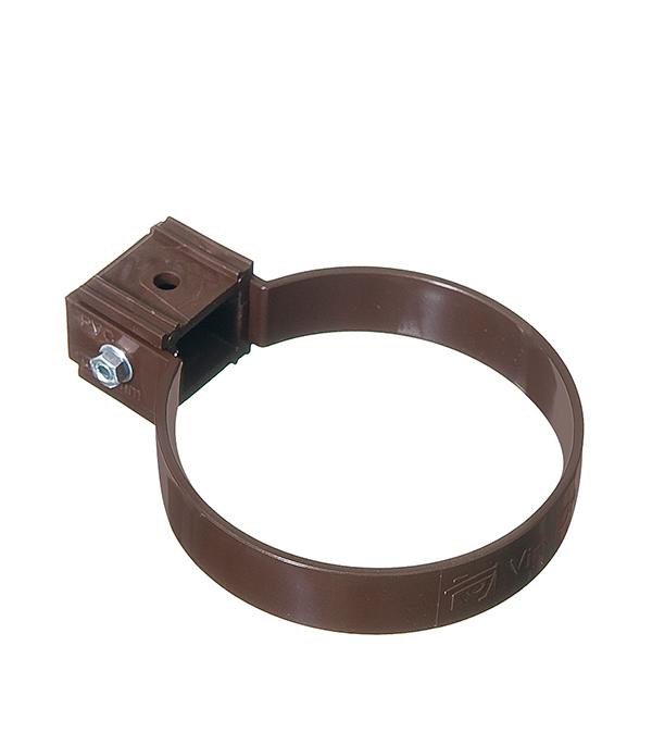 Хомут трубы пластиковый d90 мм коричневый (кофе) VINYL-ON