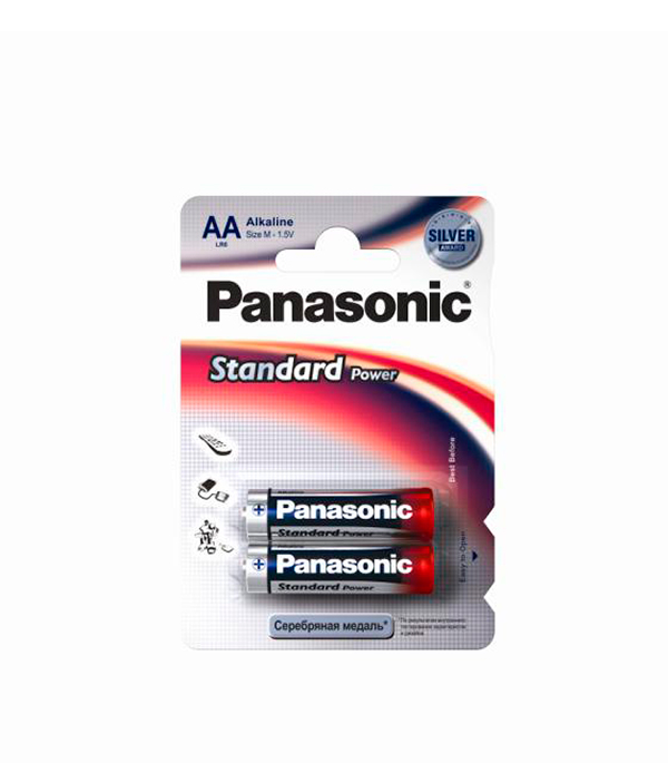 Батарейка AA (LR6), Panasonic, 2 шт